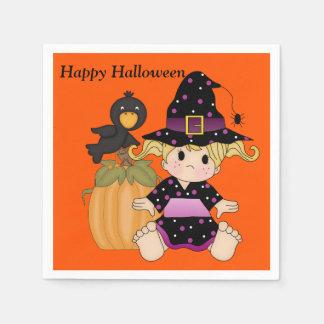 Halloween scherzt niedliche Hexe-Party-Serviette Serviette