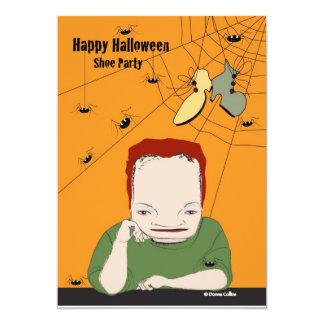 Halloween-Schuh-Party Karte