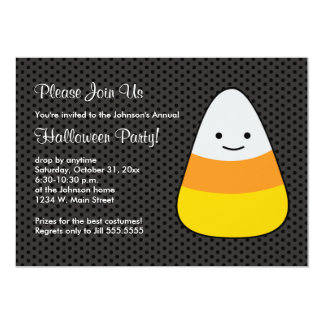 Halloween-Süßigkeit scherzt Kostüm-Party 12,7 X 17,8 Cm Einladungskarte