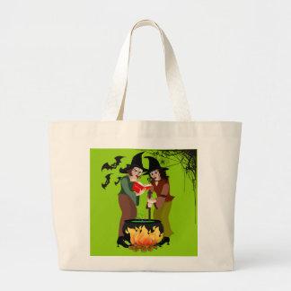 Halloween-Süßigkeits-Tasche - Creepy Hexen Jumbo Stoffbeutel