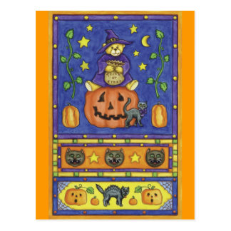 Halloween-Teddybär-Postkarte Postkarte