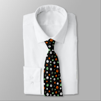 Halloween-Tupfen-Gesichter Krawatte