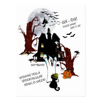 Halloween - Uh oh Vermutung, welcher Tag es ist Postkarte