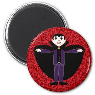 Halloween-Vampir Runder Magnet 5,7 Cm