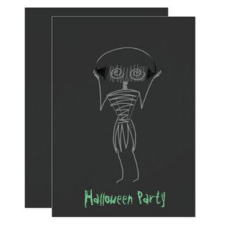 Halloween-Vogelscheuche Karte