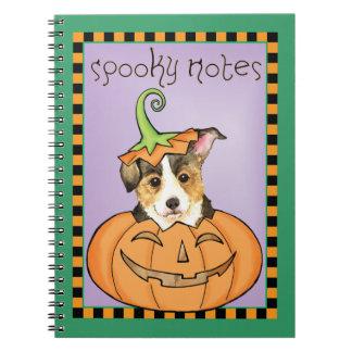 Halloweenpembroke-WaliserCorgi Spiral Notizblock