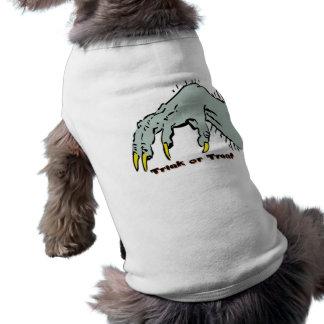 Hallowen gruselige Hand Ärmelfreies Hunde-Shirt