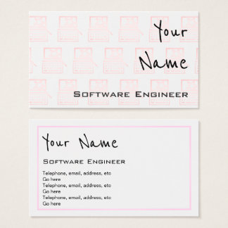 """Hallt"" Software Engineer Visitenkarten wider"