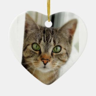 Halskette Katze herzförmig Keramik Ornament