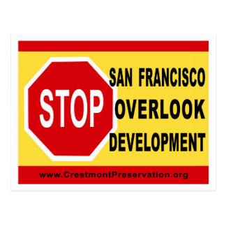 HALT SF übersehen Entwicklung Postkarte