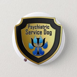Halten Sie Hundehelfer-Blau-Gelee instand Runder Button 5,7 Cm