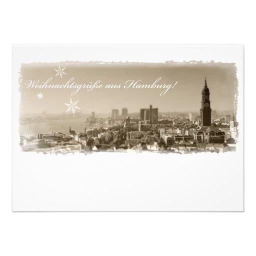 Hamburg Michel, Weihnachtsgrüße aus Hamburg, Karte Individuelle Ankündigungen