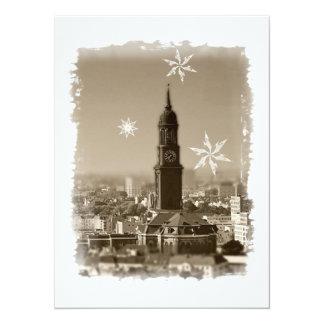 Hamburg Michel, Weihnachtsgrüße aus Hamburg, Karte 14 X 19,5 Cm Einladungskarte