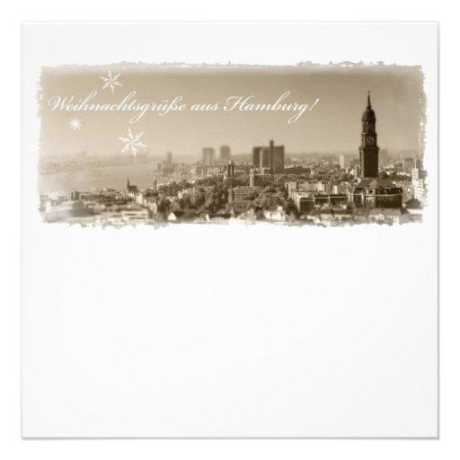 Hamburg Michel, Weihnachtsgrüße aus Hamburg, Karte Individuelle Einladungskarten