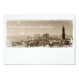 Hamburg Michel, Weihnachtsgrüße aus Hamburg, Karte 8,9 X 12,7 Cm Einladungskarte
