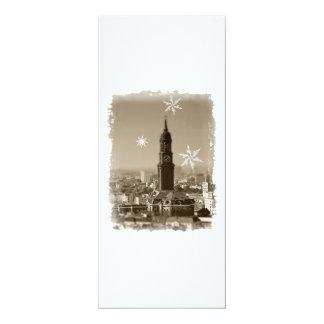 Hamburg Michel, Weihnachtsgrüße aus Hamburg, Karte 10,2 X 23,5 Cm Einladungskarte