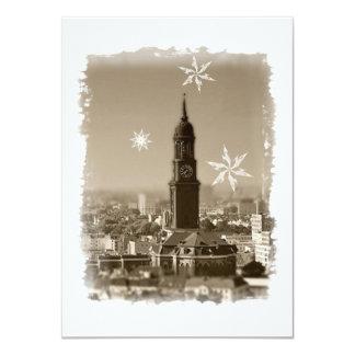 Hamburg Michel, Weihnachtsgrüße aus Hamburg, Karte 11,4 X 15,9 Cm Einladungskarte