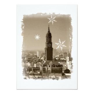 Hamburg Michel, Weihnachtsgrüße aus Hamburg, Karte 12,7 X 17,8 Cm Einladungskarte