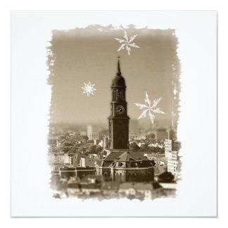 Hamburg Michel, Weihnachtsgrüße aus Hamburg, Karte Quadratische 13,3 Cm Einladungskarte