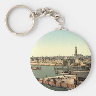 Hamburg vom Uhr-Turm, Deutschland Schlüsselanhänger