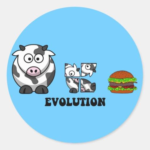 Hamburger-Evolution Runde Sticker