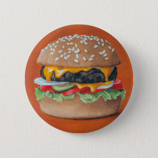 Hamburger-Illustrationsknöpfe Runder Button 5,7 Cm