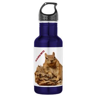 HAMbWG Eichhörnchen blau/Weiß - Wasser-Flasche (18 Trinkflasche