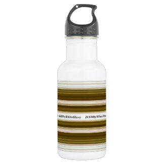 HAMbWG - Wasser-Flasche - Olive u. Weiß Edelstahlflasche