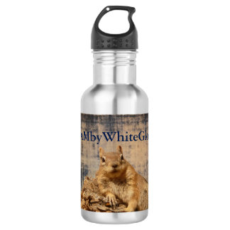 HAMbyWG Eichhörnchen-/Weinlese-Wasser-Flasche Edelstahlflasche