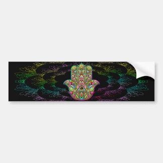 Hamsa Handpsychedelische Kunst Autoaufkleber