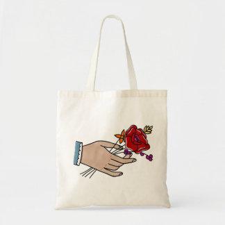 Hand//-Blumen-Tasche Budget Stoffbeutel