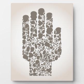 Hand eines Teils eines Körpers Fotoplatte