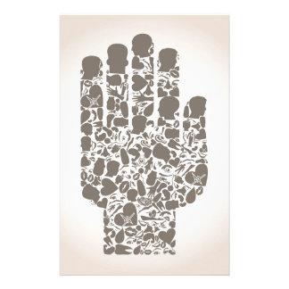 Hand eines Teils eines Körpers Individuelles Büropapier