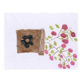 Hand gezeichnete Blumen-Postkarte Postkarte