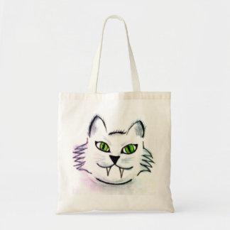 Hand-gezeichnete Katzen-Taschen-Tasche Tragetasche