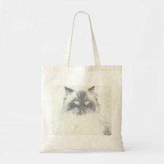 Hand gezeichnete Katzen-Taschen-Tasche Tragetasche