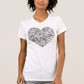 Hand gezeichnete Liebe T-Shirt