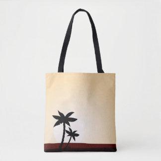 Hand gezeichnete niedliche Tasche mit Palmen