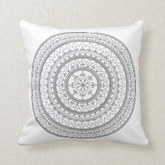Hand gezeichnete verwickelte Mandala-Kunst für Kissen