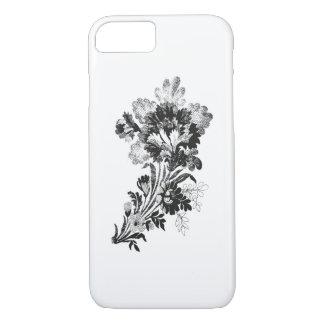 Hand gezeichneter Blumenstrauß der Blumen iPhone 8/7 Hülle