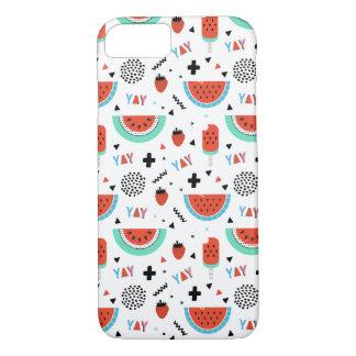 Hand gezeichneter Wassermelone-Sommer iPhone 8/7 Hülle