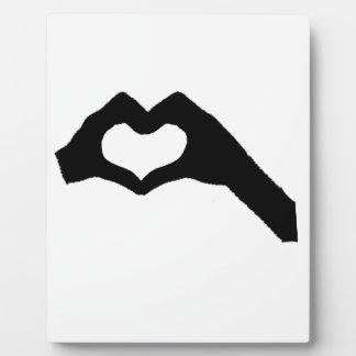 Hand heart3 fotoplatte