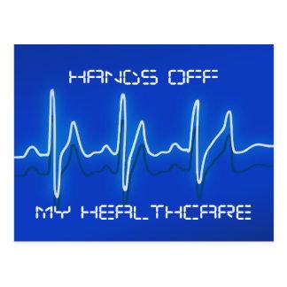 Hände weg von meiner Gesundheitswesen-Postkarte Postkarte