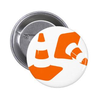 Handeln Sie Kegelsicherheitsmastzwei Whitch Runder Button 5,7 Cm