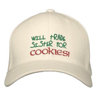 Handelt Schwester für Plätzchen! Gestickter Hut Bestickte Baseballkappe