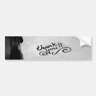 Handgeschrieben danke autoaufkleber