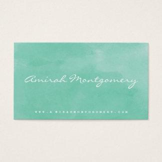 Handgeschriebene Aquarell-Visitenkarte des Visitenkarten