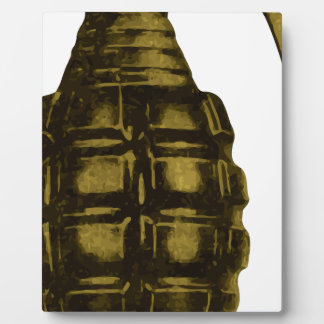 Handgranate Fotoplatte