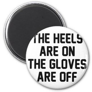 Handschuhe sind eingeschaltet runder magnet 5,7 cm