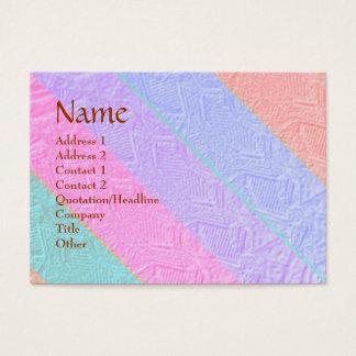 Handwerker-Streifen gravierter Entwurf Visitenkarte
